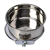 Durable Pet Puppy Dog Parrot Food Water Bowl S M L
