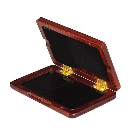 Caja de madera s/ólida caja de madera Reed para Tenor//Alto//Saxof/ón Soprano Ca/ñas Clarinete 2pcs Capacidad