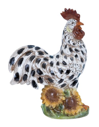 Plutus Brands Ceramic Rooster with Vibrant Shades from Plutus Brands