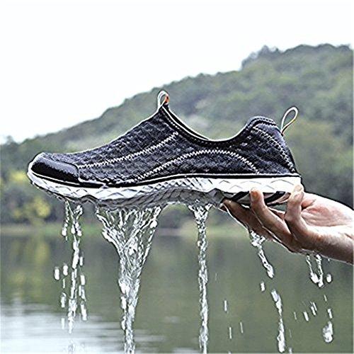 DoGeek Water Shoes Männer Frauen-Für Aqua Surf / Strand / Wetsuit Trainer-Leichte Mesh Atmungsaktive Sandalen Schwarz