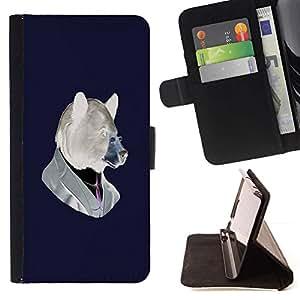 For Samsung Galaxy J1 J100 Case , Divertido del inconformista Oso- la tarjeta de Crédito Slots PU Funda de cuero Monedero caso cubierta de piel
