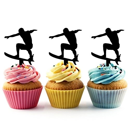 TA0022 Surfboard Silhouette Party Wedding Birthday Acrylic Cupcake Toppers Decor 10 pcs by jjphonecase