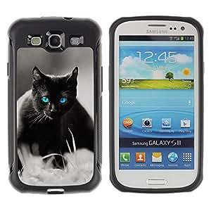 iKiki Tech / Estuche rígido - Cute Black Cat Siamese White Pet Kitten - Samsung Galaxy S3 I9300