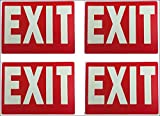 Exit Sign Glow-in-The-Dark Exit Sign, 12 by 9