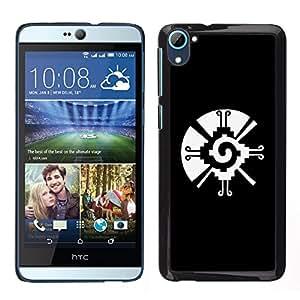 [Neutron-Star] Snap-on Series Teléfono Carcasa Funda Case Caso para HTC Desire D826 [Black White Tribal Native Pattern Vortex]
