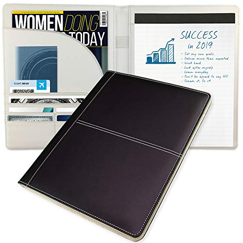 Padfolio for Women Doing Business Today – Modern Classic Timeless Style –– Perfect for Meetings & Interviews –– The Essential Professional Notepad Holder Resume/Portfolio Folder Organizer ()