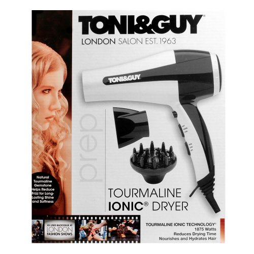 toni guy professional hair dryer black white 1875 watt. Black Bedroom Furniture Sets. Home Design Ideas