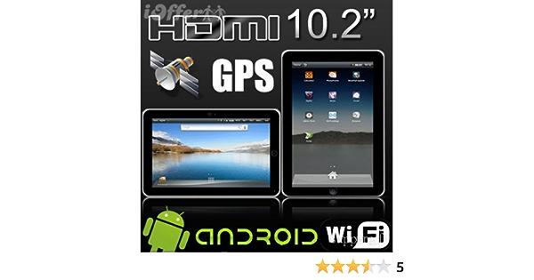 Tablet PC pantalla de 10,2 pulgadas 16GB GPS Android 4.0 WiFi Webcam HDMI