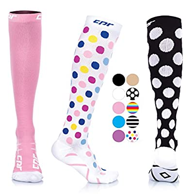 CPR Compression Socks for Women Men Nurses Compression Stockings for Woman Graduated Compression Sock 20 30 mmHg Knee High Nursing Travel Comfortable Compression Socks