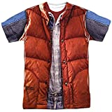 Golden Eletina Back to The Future Movie Marty McFly Vest 2-Sided All Over Print Poly T-Shirt