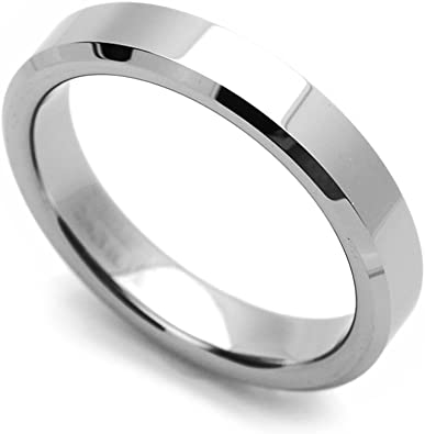Double Accent Custom Engraving 8MM Comfort Fit Tungsten Wedding Band Grooved Center Promise Ring