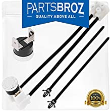 W10258275 Bimetal Thermal Fuse by PartsBroz - Compatible with Whirlpool & Kenmore Dishwashers - Replaces 1549751, 661663, AP4423189, W10136048, W10258275, W10258275VP, W10344801, PS2360984