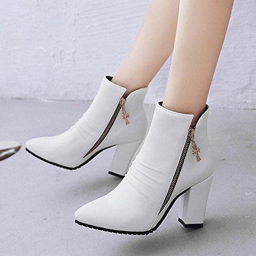 Donna MissSaSa Elegante Stivaletti Bianco Boots Zx1FndTwq1
