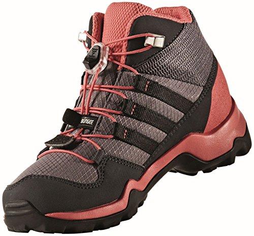 adidas Terrex Mid Gtx, Zapatos de High Rise Senderismo Unisex Niños Gris (Trace Grey/core Black/tactile Pink)