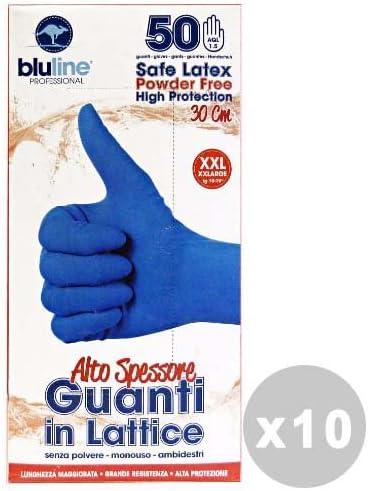 bluline Juego 10 bluline Guantes látex ALTO grosor Talla XXL * 50 ...
