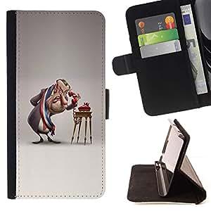 Momo Phone Case / Flip Funda de Cuero Case Cover - Parodia cómica 3D Figura Arte - Sony Xperia Style T3