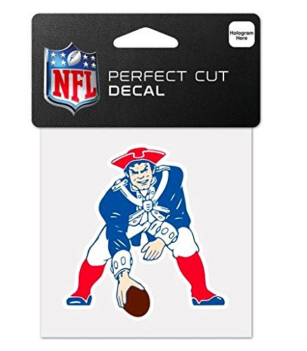 NFL New England Patriots 4x4 Perfect Cut Decal by