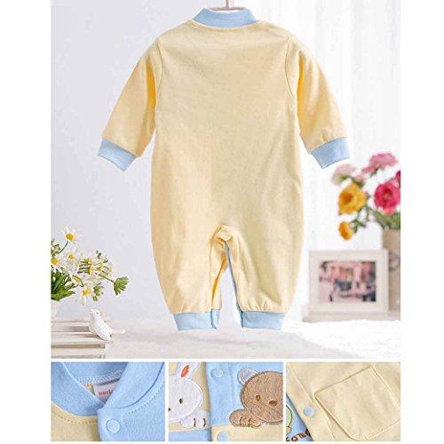 dbaf5a7d2685e 新生児 服 男の子 カバーオール 長袖 秋冬 ベビー 肌着 赤ちゃん 前開き 柔らかい コットン 出産祝い 動物