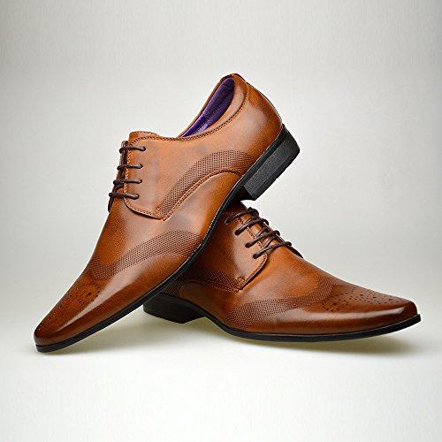 8 Abito Formali UK taglia Nuovo Alla 10 Uomo Nera Scarpe 9 11 7 Elegante Brown 6 Moda In Da Pelle Rqgx78Zzw