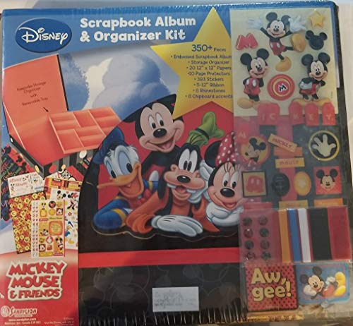 350 Piece Disney Scrapbook Album and Organizer Box Kit Features Mickey Mouse, Donald Duck Minnie Mouse and Goofy