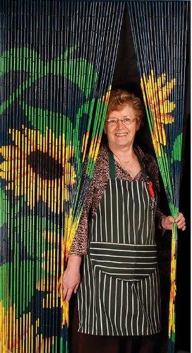 Handmade Bamboo Door Fly Curtain   Sunflower