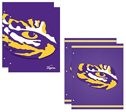 (Louisiana State University Tigers 2-Pocket School Folders, 4 Pack, 9.5