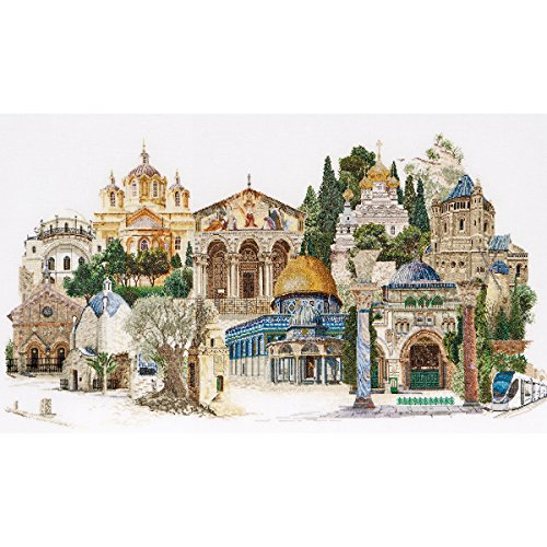Thea Gouverneur 36 Count Jerusalem on Linen Counted Cross Stitch Kit, 31 x ()