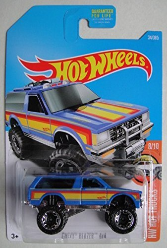 Hot Wheels 2017 HW Hot Trucks Chevy Blazer 4X4 34/365, Blue