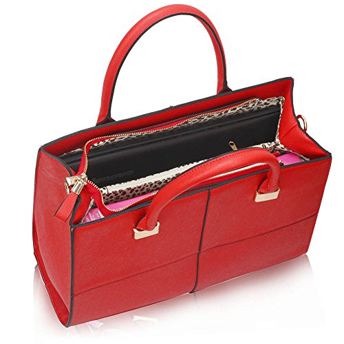 Large Womens Leather Large 1 Red Bags Design Ladies Medium Large Extra Handbags Faux Extra Fashion Designer Large 0O4ZEw