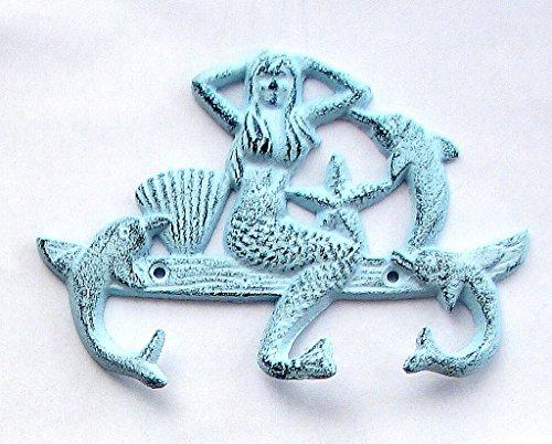SkuBros Cast Iron Mermaid Dolphin w/3 Hooks