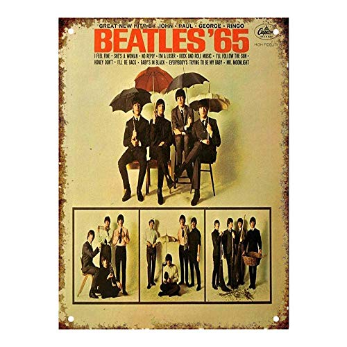Ohuu 12×16 The Beatles Capitol Records Album Cover Tin Wall Signs Warning Sign Metal Plaque Poster Iron Painting Art Decoration for Bar Café Hotel Office Bedroom Garden