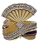 INMONARCH Mens Buy Grooms TURBANS Online Pagari Safa Groom Hats TU1077 23-Inch Brown