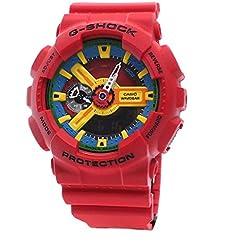 Casio Mens Watch G-SHOCK SUPERMAN Analog-Digital Sport Quartz Japan Watch GA-110FC-1A