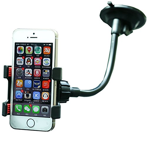 "Universal Mount Adapter,iBrabe Holder for Smart Phones 2.3""- 4"" Wide,such as: iPhone X,7(Plus),8(Plus),6(Plus) 5S 5C 5 4S ipod, Samsung galaxy s7,s8,S8+,S6 S5 and More Cell Phone,Clip (black)"