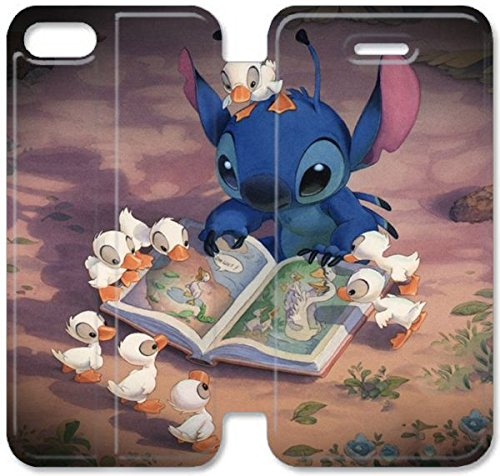 Coque iPhone 6 6s 4,7 pouces Coque Cuir, Klreng Walatina® 6 6s PU Cuir de portefeuille Coque Design By Lilo Assemblage Cartoon Disney Ipod M2N1Hz