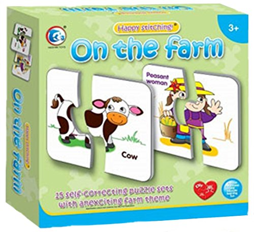 [Learning Puzzle - On The Farm (15 Pcs)] (Animals That Start With The Letter A)