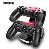 TT-Ps4-Controller-Charge-Station-2x-Usb-Simultaneous-Charger-Dual-Charging-Dock-Cradle-Stand-Accessory-For-Sony-Playstation-4-Gaming-Control-With-Led-Indicator-Micro-Cable-Black-Playstation-4
