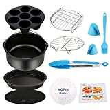 Air Fryer Accessories 11PCS for Phillips Ultrean Ninja Vremi Air Fryer, Fit all 3.7QT-4.0-5.8QT Power Deep Hot Air Fryer with Cake Barrel, Pizza Pan