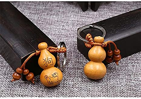 Amazon.com: Rarido Moda china étnica zodiaco gourd llavero ...