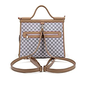 WOpet Deluxe Pet Dog Carrier Backpack PU Leather Dog Carrier Luxury Cat Carrier Handbag for Outdoor Travel Walking Hiking