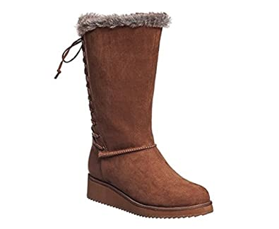 Women's Perie Cold Weather Winter Boots Camel Micro Suede