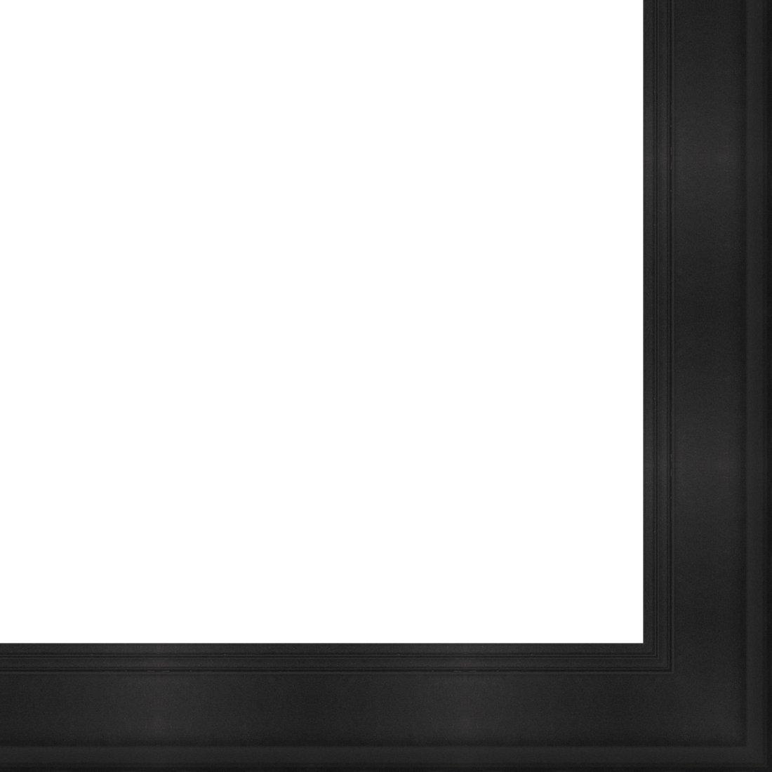 Picture Frame Moulding (Wood) 18ft bundle - Contemporary Black Finish - 1.5'' width - 1'' rabbet depth