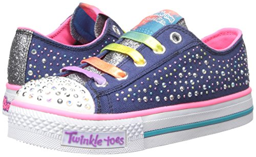 Toes Skechers Twinkle Chit Chat Light-up Lace-up Sneaker BO6fJ5sBK