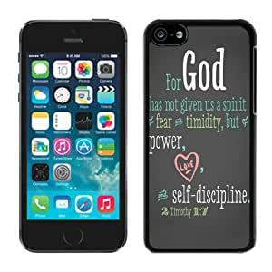 Individual Iphone 5c TPU Case Bible Quote Best Gifts Black Soft Silcon Cover Mobile Phone Accessories