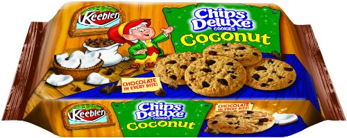 Chips Deluxe Cookies, Coconut, 18-Ounce Packages (Pack of 4)