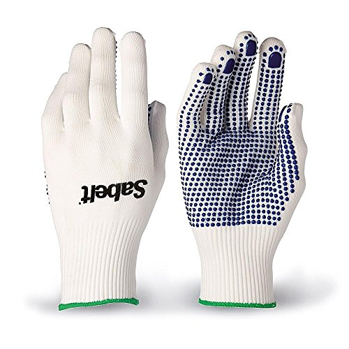 Sabelt Z120460 - Mechanic Gloves - Knitted Cotton with Blue Rubber Peening - One Size Fits All - Pair