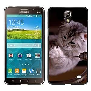 Caucho caso de Shell duro de la cubierta de accesorios de protección BY RAYDREAMMM - Samsung Galaxy Mega 2 - Ragdoll Maine Coon gatito gato felino