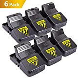 Diaotec Mouse Trap, Rat Rodent Mice Snap Traps Catcher Quick Kill 100% Work for Rats, Effective and Sensitive Solution for Mice Control (6 Pack, Large)
