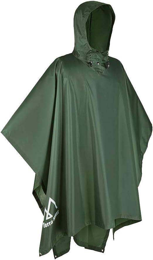 3IN1 Women Men Poncho Hooded Raincoat Poncho Outdoor Rain Coat Rainwear Camping