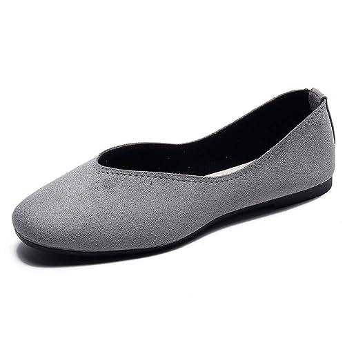 DADAWEN Damen Geschlossene Loafers Mädchen Ballerinas Mary